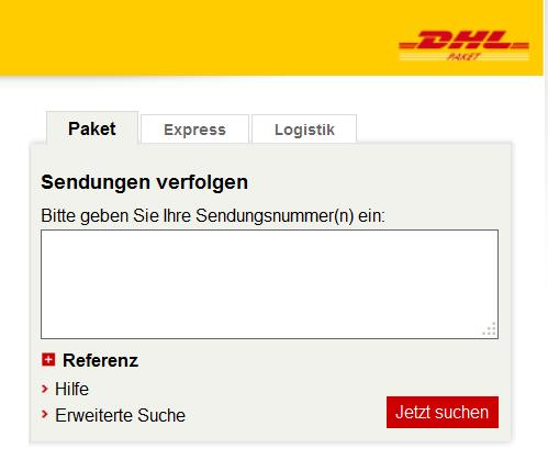dhl verfolgen tracking support. Black Bedroom Furniture Sets. Home Design Ideas