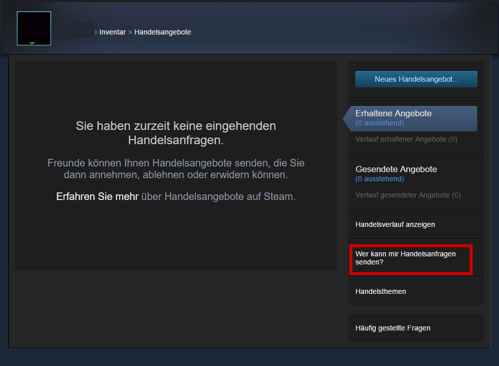Steam Handelsurl