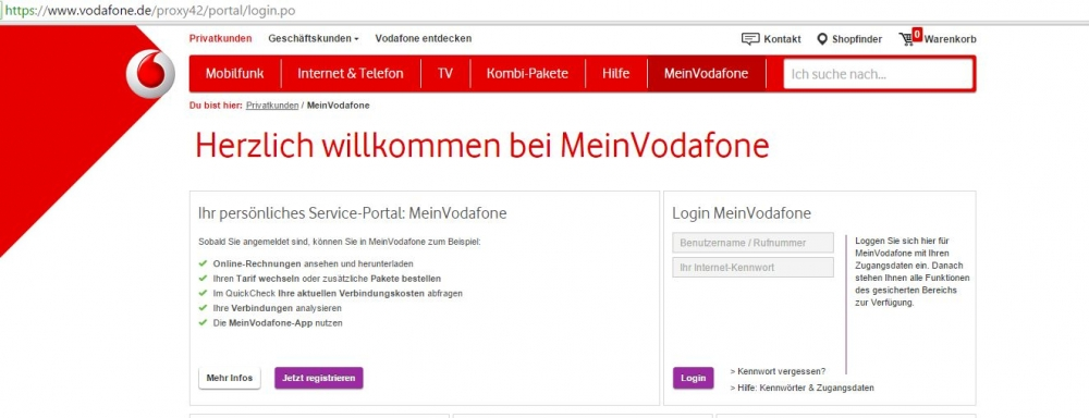 vodafone rechnung online abfragen so geht 39 s chip. Black Bedroom Furniture Sets. Home Design Ideas